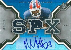 マーション・リンチ NFLカード Marshawn Lynch 2007 SPx Rookie Jersey Autographs 233/299