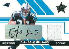 ディアンジェロ・ウィリアムス NFLカード DeAngelo Williams 2006 Leaf Rookie and Stars Rookie Material Autogarphs 19/25