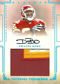 ドウェイン・ボウ NFLカード Dwayne Bowe 2007 Playoff National Treasures Rookie Patch Autographs 1/5