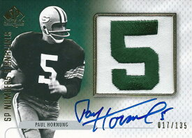ポール・ホーナング NFLカード Paul Hornung 2008 SP Authentic SP Numbers Signatures 017/135