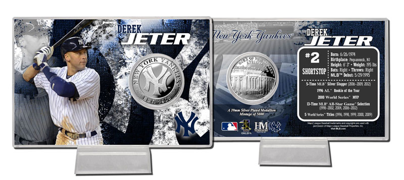 The Highland Mint (ハイランドミント) 2013 デレク・ジーター シルバーコインカード (2013 Derek Jeter Silver Coin Card)
