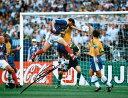 ジネディーヌ・ジダン 直筆サイン入りフォト フランス ワールドカップ・ゴール (Signed France Photo: World Cup Goal…