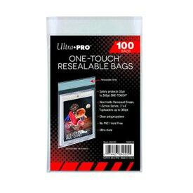 ウルトラプロ(UltraPro) ワンタッチマグネットカードホルダー用バッグ シール付クリアパック 100枚入り One-Touch Resealable Bags (#84005)
