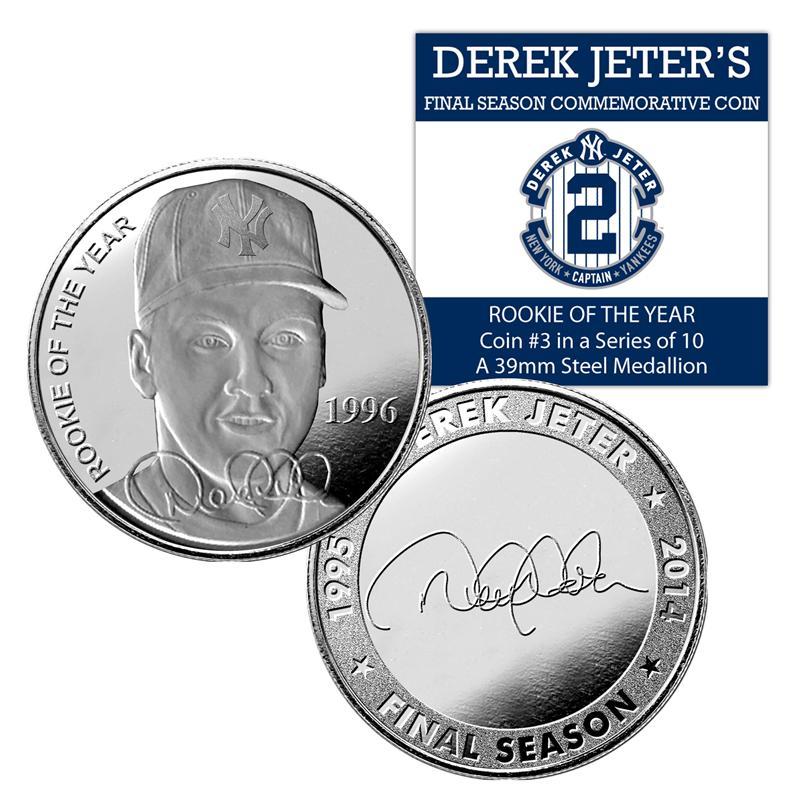 (セール)The Highland Mint (ハイランドミント) デレク・ジーター ファイナルシーズンコイン #3 (Derek Jeter Final Season Rookie of the Year Coin)