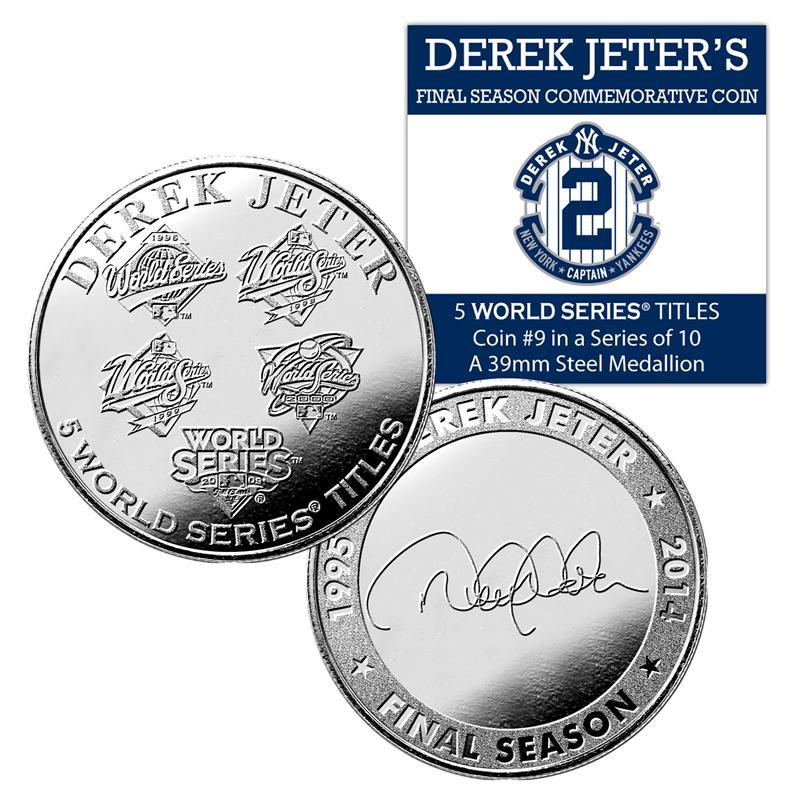 (セール)The Highland Mint (ハイランドミント) デレク・ジーター ファイナルシーズンコイン #9 (Derek Jeter Final Season 5 World Series Titles Coin)