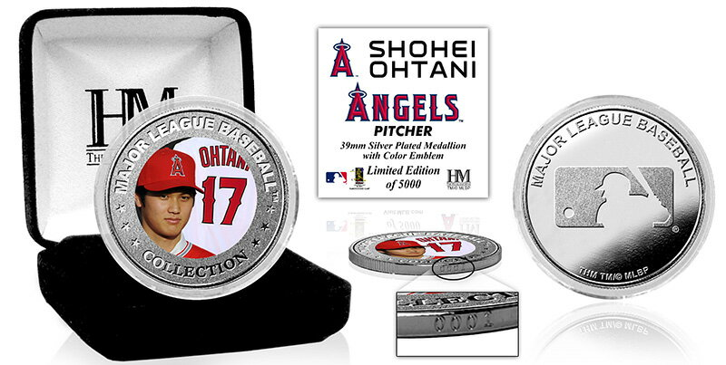 The Highland Mint (ハイランドミント) 大谷翔平 ロサンゼルス・エンゼルス シルバーコイン (Shohei Ohtani Silver Mint Color Coin)