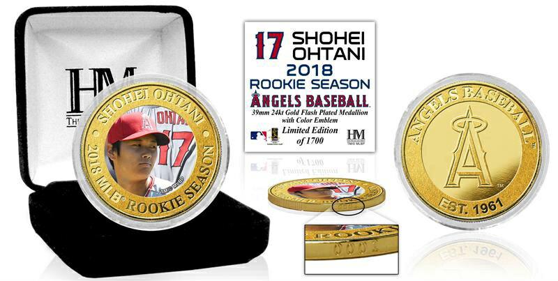 The Highland Mint (ハイランドミント) 大谷翔平 ロサンゼルス・エンゼルス MLBルーキーシーズンゴールドカラーコイン (Shohei Ohtani MLB Rookie Season Gold Color Coin)
