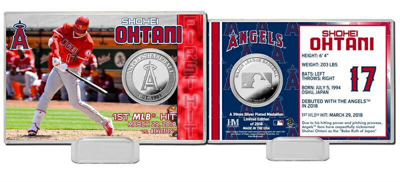 The Highland Mint (ハイランドミント) 大谷翔平 ロサンゼルス・エンゼルス MLB初ヒットシルバーコインカード Shohei Ohtani MLB 1st Hit Silver Coin Card)