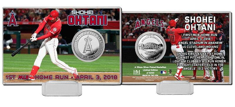 The Highland Mint (ハイランドミント) 大谷翔平 ロサンゼルス・エンゼルス MLB初ホームランシルバーコインカード (Shohei Ohtani 1st MLB HR Silver Coin Card)