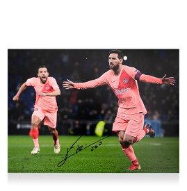 リオネル・メッシ 直筆サインフォト FC バルセロナ ダービー ゴール vs エスパニョール (Lionel Messi Official Signed FC Barcelona Photo: Derby Goal vs Espanyol)