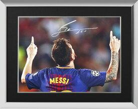 リオネル・メッシ 直筆サインフォト FC バルセロナ ゴッド-ギブン タレント 額装 (Lionel Messi Official Signed Barcelona Photo: God-Given Talent)
