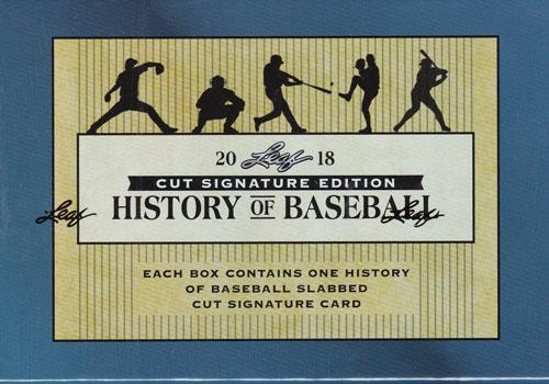 2018 Leaf History of Baseball Cut Signature Edition ボックス(Box) 9/5入荷!