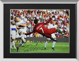 クリスティアーノ・ロナウド ポルトガル オーバーヘッド・キック・ゴール 直筆サインフォト 額入り Signed Portugal Photo: Overhead Kick Goal / Cristiano Ronaldo 1/10入荷!
