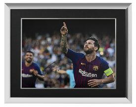 リオネル・メッシ 直筆サインフォト FC バルセロナ UEFA チャンピオンズリーグ ハットトリック vs PSV 額装 (Lionel Messi Official Signed Barcelona Photo: UEFA Champions League Hatrick vs PSV)
