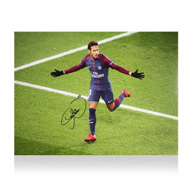 ネイマール 直筆サインフォト パリ・サンジェルマンFC UEFAチャンピオンズリーグ ゴール vs セルティック Neymar Jr Signed Paris Saint-Germain Photo: UEFA Champions League Goal vs Celtic