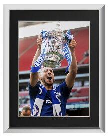 エデン・アザール チェルシー 2018 FA カップ ウィナー 直筆サインフォト 額装 Eden Hazard Signed Chelsea Photo: 2018 FA Cup Winner◆セール
