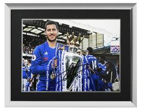 エデン・アザール チェルシー 2016-17 プレミアリーグ ウィナー 直筆サインフォト 額装 Eden Hazard Signed Chelsea Photo: 2016-17 Premier League Winner◆セール