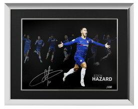 エデン・アザール チェルシー 100 ゴール 直筆サインフォト 額装 Eden Hazard Signed Chelsea Artwork: 100 Chelsea Goals◆セール