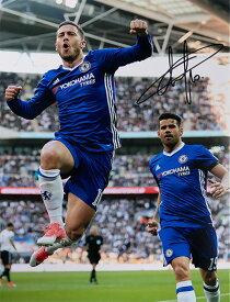 エデン・アザール チェルシー ゴール vs トッテナム・ホットスパーFC 直筆サインフォト Eden Hazard Signed Chelsea Photo: Goal vs Tottenham Hotspur◆セール