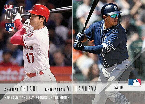 大谷翔平&クリスチャン・ビヤヌエバ #159 MLB 4月 ルーキー・オブ・ザ・マンス カード Shohei Ohtani/Christian Villanueva - 05/02/2018 TOPPS NOW CARD