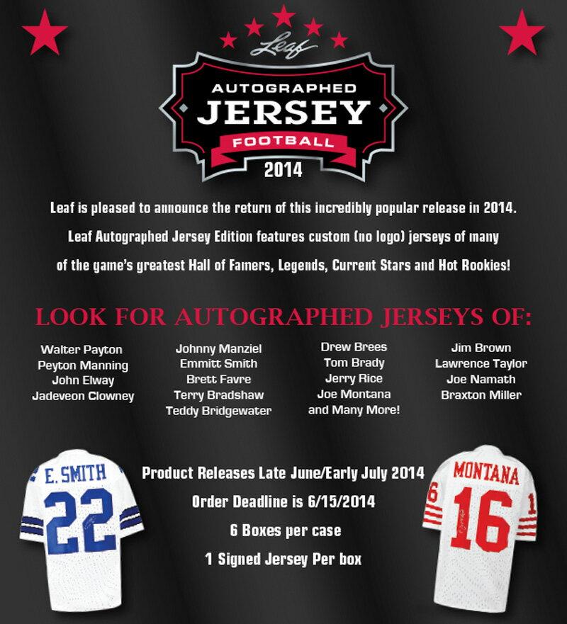 2014 Leaf Autographed Jersey Football ボックス (Box) ★7/16入荷!