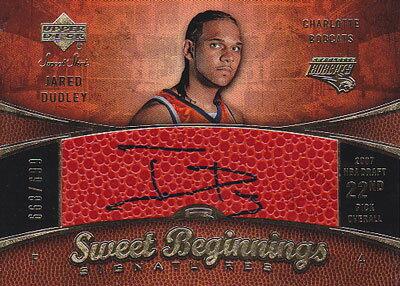 【ジャレッド ダドリー】 2007/08 UD Sweet Shot Sweet Begininngs Signature 699枚限定!(668/699)(Jared Dudley)(直筆サインカード)
