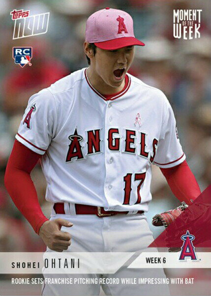 大谷翔平 Topps Now 第6週投票のウィナーカード Moment of the Week 6 Winner - Shohei Ohtani MLB Topps Now Card 6/4入荷!