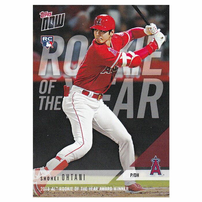 大谷翔平 2018 AL Rookie of the Year Award Winner - Shohei Ohtani MLB Topps Now Card AW-1 12/5入荷
