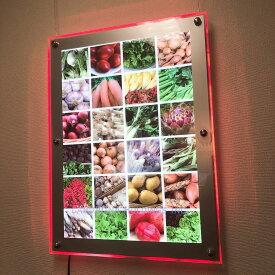 LED看板 アクリルフレーム RGB シリウス イルミネーション B2サイズ 送料込 パチンコ 展示会 カラフル LED レインボー送料無料!フレームレス 看板