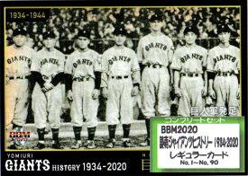 BBM2020 読売ジャイアンツヒストリー 1934-2020 レギュラーカードコンプリートセット