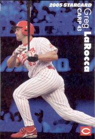 カルビー2005 プロ野球チップス スターカード 霜降りパラレル No.S-46 ラロッカ