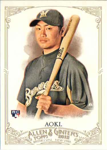 青木宣親 2012 Topps Bowman Allen & Ginter's Rookie Card Norichika Aoki
