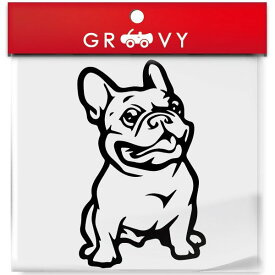 フレンチブルドッグ 犬 車 ステッカー デカール シール エンブレム おしゃれ かわいい アクセサリー ブランド アウトドア グッズ 雑貨 おもしろ かっこいい おしゃれ