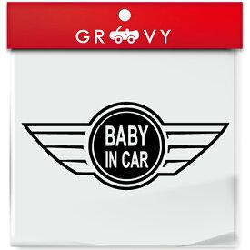 ミニ クーパー ステッカー MINI シール Ver.2 baby in car kids in car dog in car 車 お洒落 エンブレム ロゴ デカール アクセサリー ブランド アウトドア グッズ 雑貨 おもしろ かっこいい おしゃれ