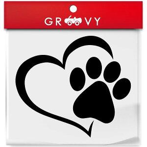 肉球 ハート ステッカー かわいい 犬 猫 ノートパソコン 車 自動車 エンブレム シール デカール アクセサリー ブランド アウトドア グッズ 雑貨 おもしろ かっこいい おしゃれ