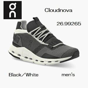 スイス発ブランドON オン on 26.99265 Cloud nova クラウドノヴァBlack/Whiteメンズ ランニングシューズ ウォーキングシューズ スニーカー スポーツ 靴 通学