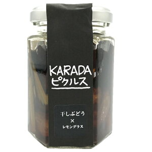 山梨県勝沼産干しぶどうピクルス KARADAピクルス 干しぶどう×レモングラス 干しぶどう酢漬け 43g 健康