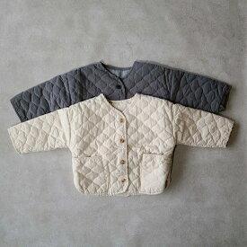Berpy ベビー服 キルティングダウン 冬 中綿 ジャケット 暖かい トップス ユニセックス