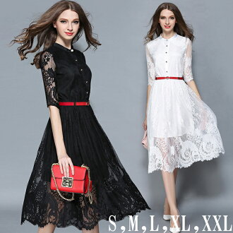 Slender look feminine ☆ total lace one-piece wedding dress wedding dress parties formalwear formal one piece 5-sleeve one-piece - Su party dress floral adult wedding feast 30s 40s invited luxury large size Party recommended! 10P01Oct16