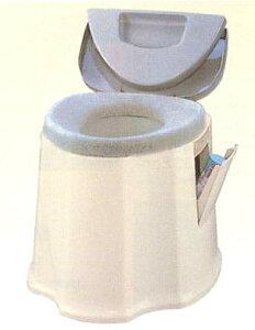送料無料  ポータブルトイレGX 場所をとらないコンパクトな設計 使い易いペーパーホルダー、小物収納ポケット付です