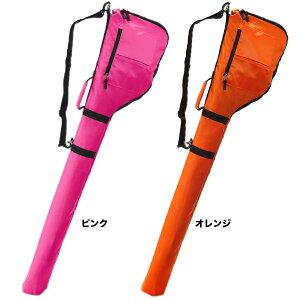 ピンクとオレンジのゴルフバッグの画像