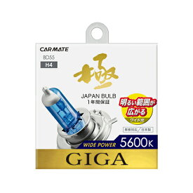 カーメイト GIGA(ギガ) BD55 ワイドパワー 5600K H4 60/55W ハロゲンバルブ 車検対応 【アウトレット】 carmate