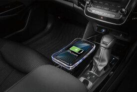 カーメイト NS401 ワイヤレスチャージャートレイ ブラック Qi 充電器 車 正規認証トレイ型無線充電器 車載 オフィスのデスク iPhone 8/8 Plus/X/XS/XS Max/XR 他 carmate