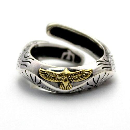 ネイティブアメリカン インディアン イーグル 鷹 リング 指輪 シルバー925 アクセサリー