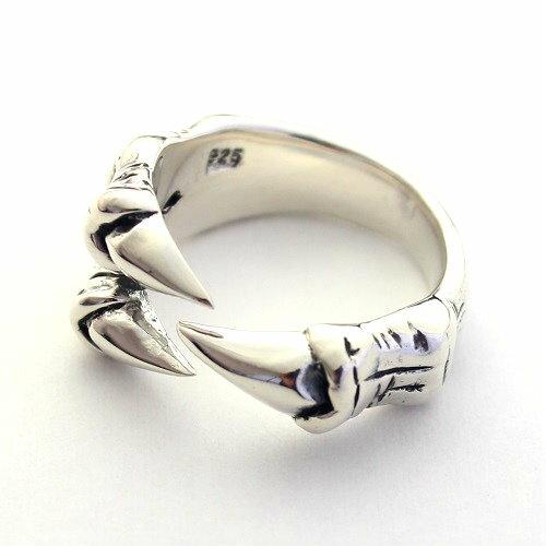 ネイティブアメリカン インディアン イーグルクロウ 鷹 爪 シルバー925 リング 指輪