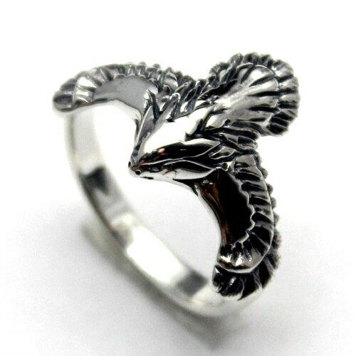 ネイティブアメリカン インディアン イーグル 鷹 シルバー925 リング 指輪