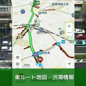 車ルートやリアルタイムの渋滞情報も確認できます