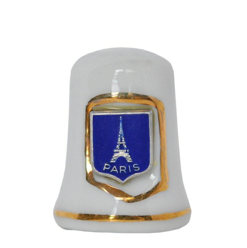 エッフェル塔グッズエッフェル塔の陶器製指貫/シンブル
