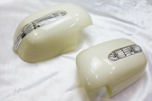 トヨタ アルファード10系15系後期 LED ドアミラーカバー(未塗装タイプ) ◆ 送料無料 ◆