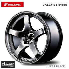 バリノ ジーブイ330 9.5J-18 -3 5H-114.3 2本 【数量限定】GV330 (インセット-3/+12)HYPER BLACK